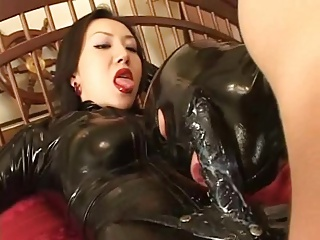 Asian Dominatrix. Latex