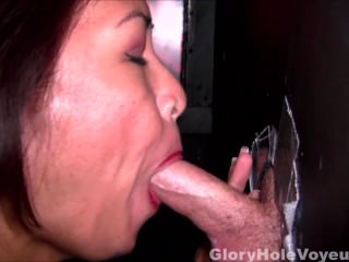 Asian MILF Gloryhole Interview First Blowjob