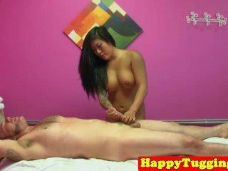 Deepthroated asian masseuse spoils dude