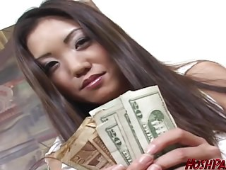 Housewife Kaiya needs cash, to acquire their way man a anniversary gift!