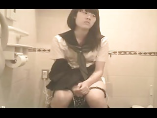 Japanese Schoolgirl Bathroom (hidden cam)