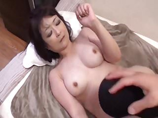 Nakayama Yoshiko 50 life-span old Mother behaving Japanese food