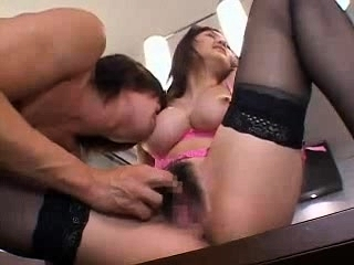 Roped hairy Asian made to orgasm approximately ripped stockings