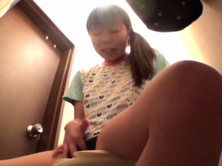 Asian babe rubs their way vag