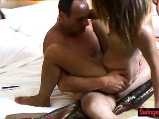 Hoggish Thai wife cheats on husband with his affiliate