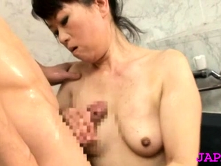 Astonishing older japanese nurse gets their way expansive mounds felt up