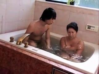 Mature Japanese Bathing