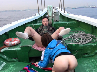 Japanese Nonoka Kaede got fucked in dramatize expunge boat uncensored