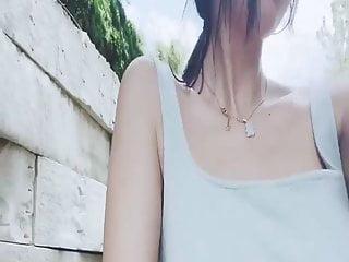 Beautiful Chinese Model - AZhu, public nudity
