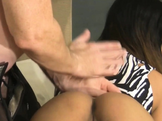 Asian cute babe gets firm nailed