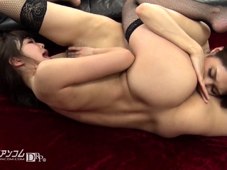 Lesbian anal coddle toying stretched ass and fingering pussy