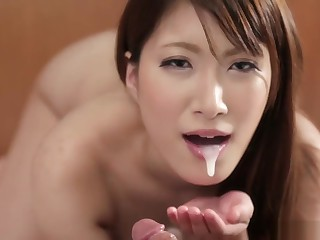 Yume Mitsuki POV blowjob with spoken creampie