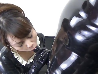 Japanese Latex Crumpet and Catsuit 88