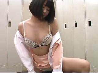 Japanese girl humping 05