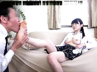 Look up to Japanese Asian Schoolgirl White Socks and Feet Ornament 1