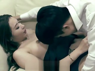 korean dude fuck her sister in law on sofa