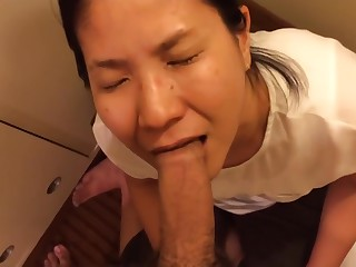 My loyal Chinese unreserved deepthroats me with a facial