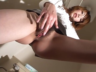 Saori Kitajima, miasmic Asian unreserved less solo injure