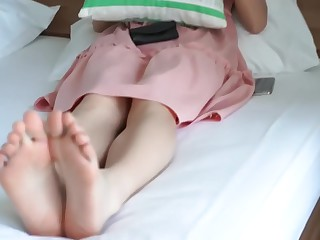 Asian girl nice feet