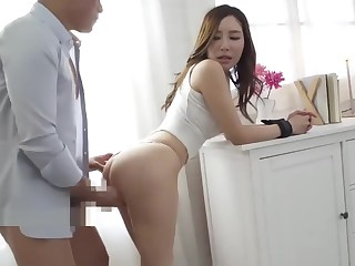 Beautiful son Aoi fucks, blows plus gets a nice creampie