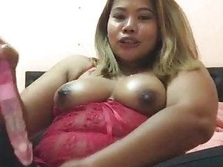 Chubby Ass Blonde Asian Milf Plays With Tight Pussy