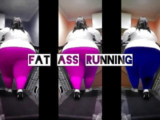 BBW FAT ASS on Treadmill X3