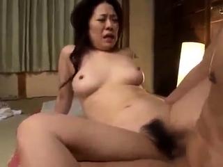 Japanese doll sara has the brush hairy cunt fuck hard