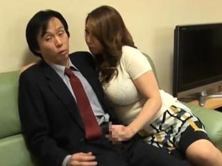Asian Girl Blowjob Handjob and Cumshot
