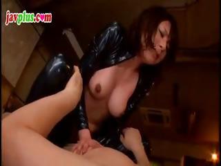 Slutty Asian submissive gets strung up added to tortured around her flimsy twat